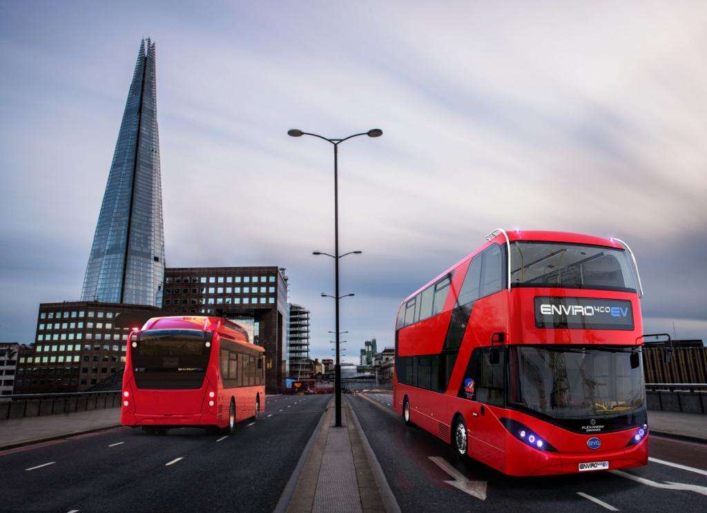 double decker electric bus london