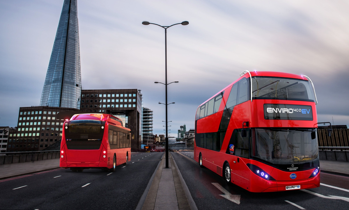 double decker electric bus london