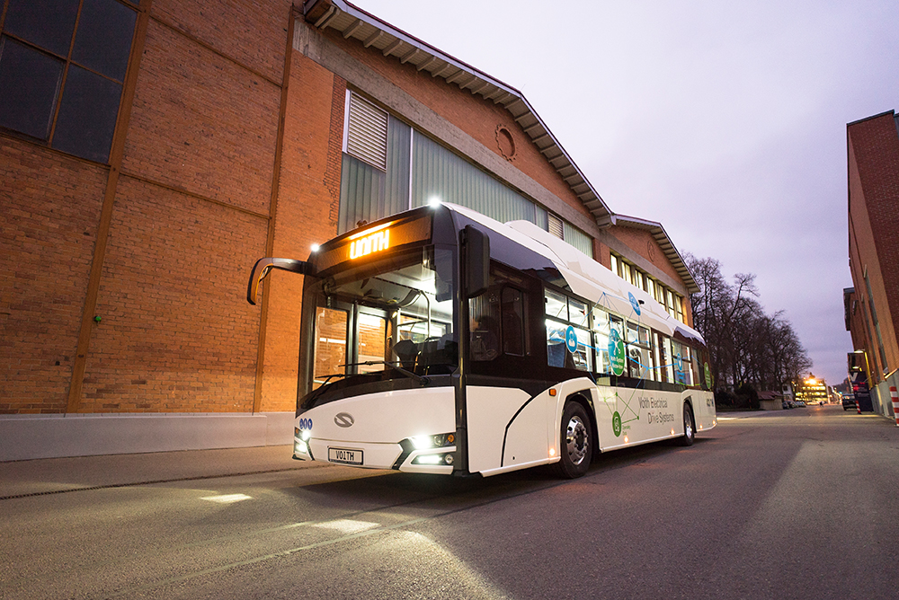 voith drive system electric bus solaris urbino electric