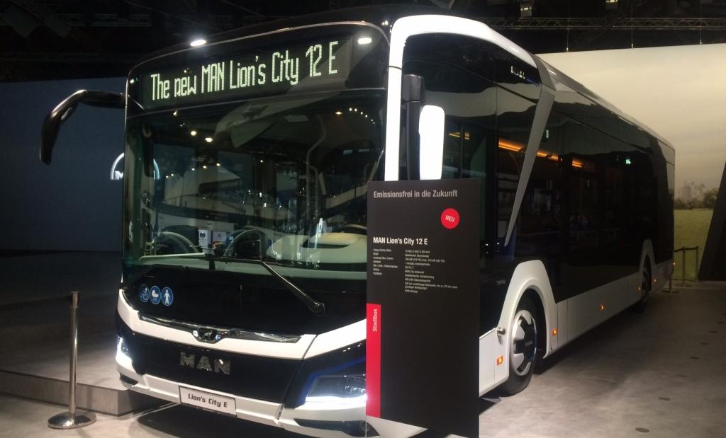 man lion's city electric bus