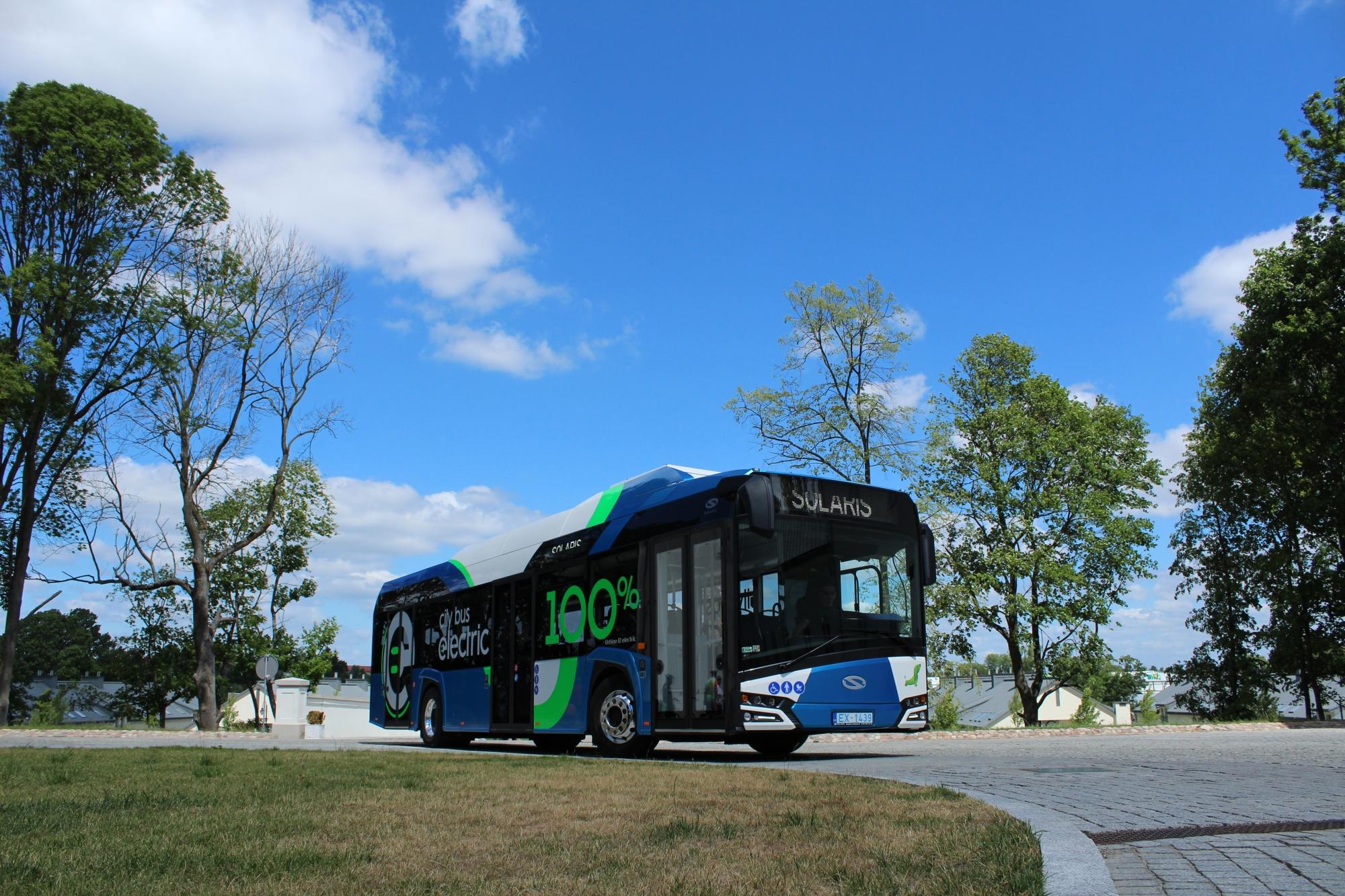 solaris urbino electric bus estonia