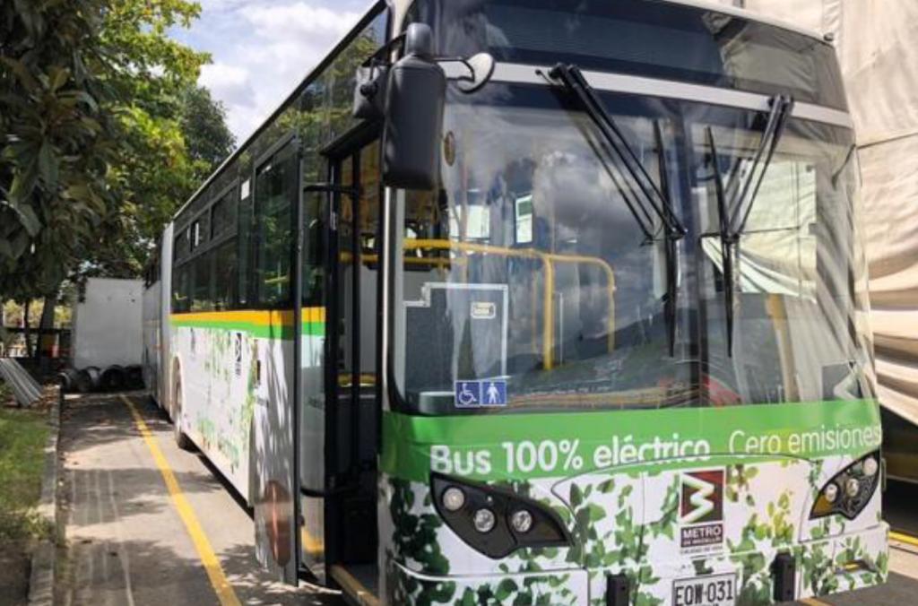 Medellin zero emission BYD buses