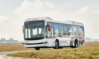 electric bus byd airport shuttle brussels