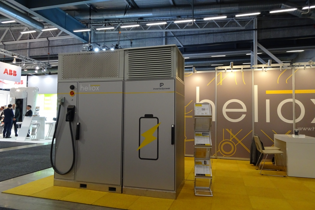 heliox invertedpower charging station electric bus