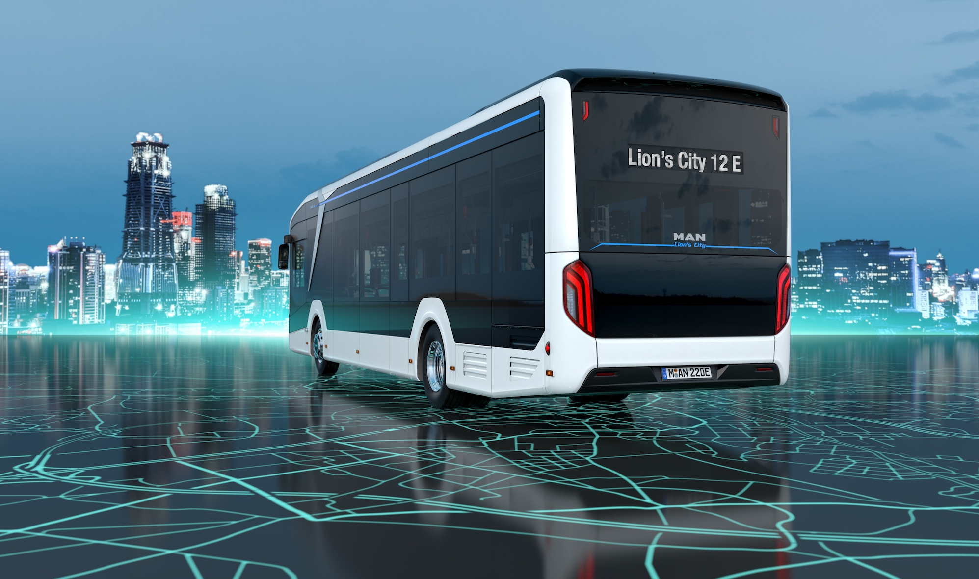 man electric bus