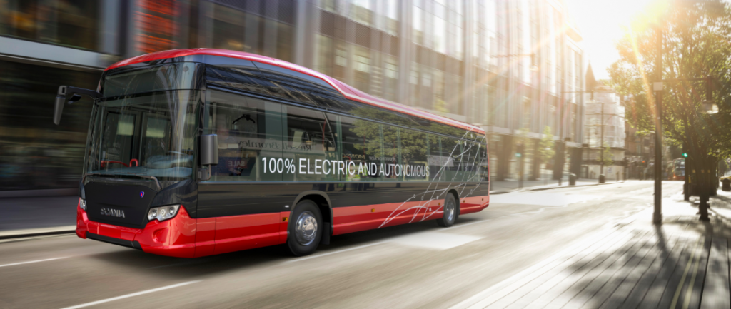 driverless bus scania