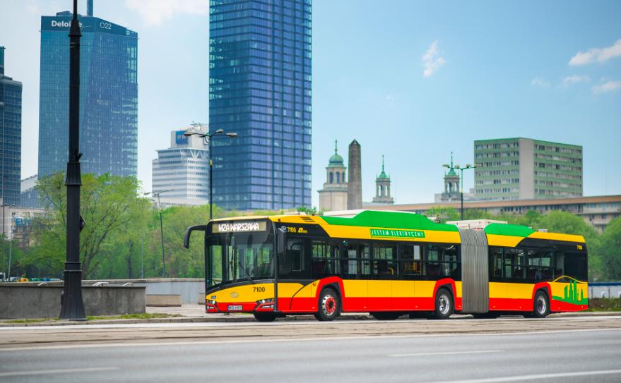 electric bus solaris warsaw