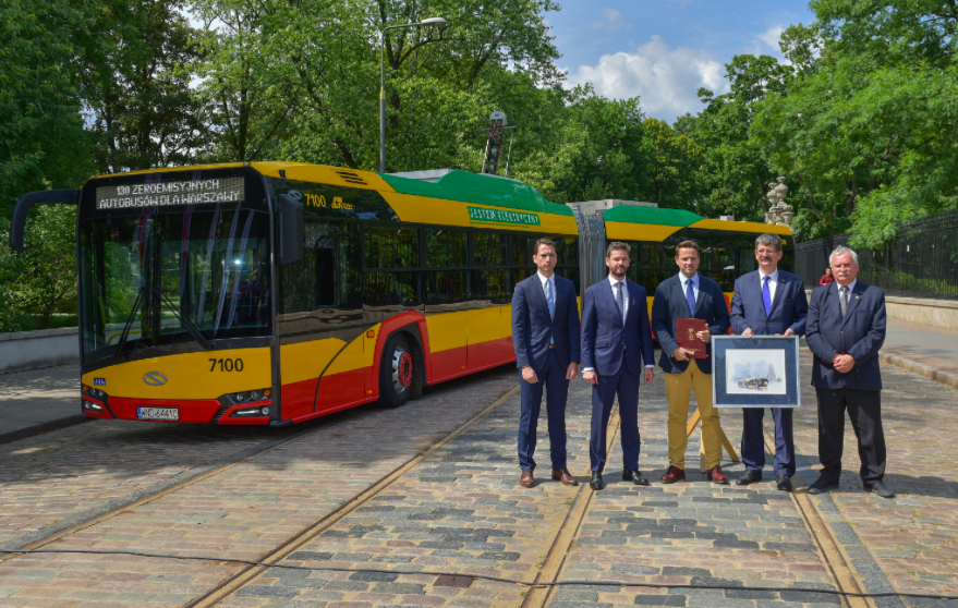 electric bus solaris warsaw