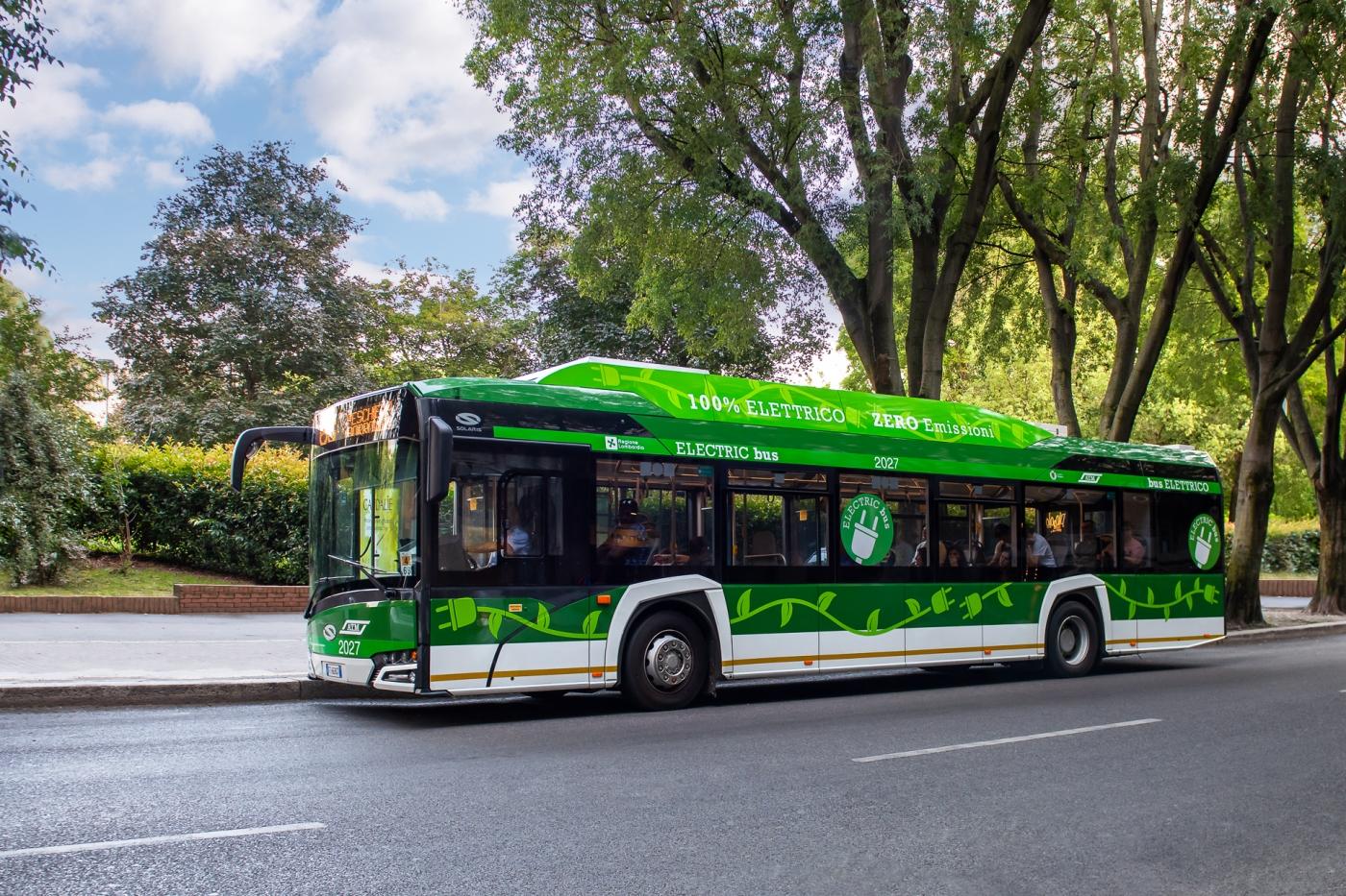 atm milano electric bus solaris