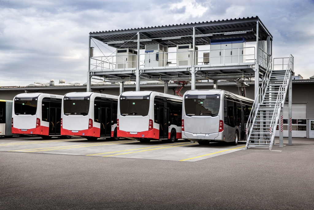 eCitaro testing infrastructure in Mannheim: 1.2 MW via three charging technology