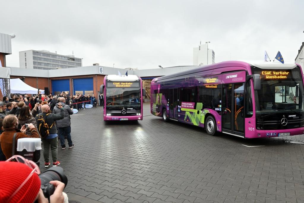 electric bus wiesbaden