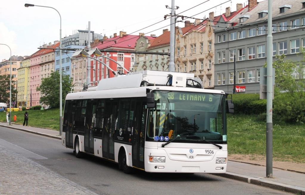 trolleybus prague