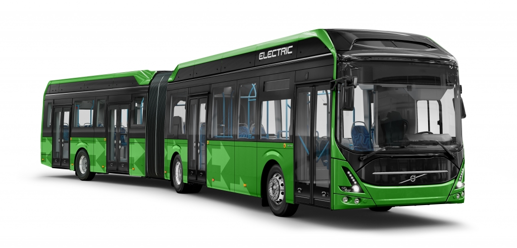 volvo articulated electric bus malmo