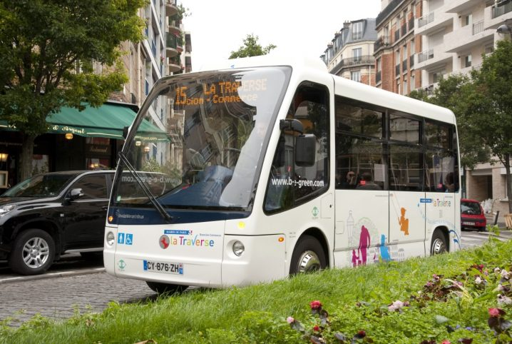 electric minibus be green paris