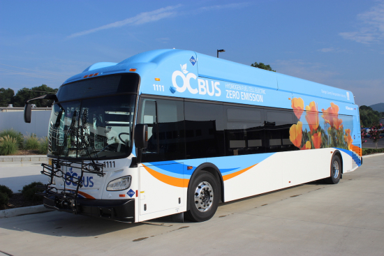 hydrogen bus fleet california