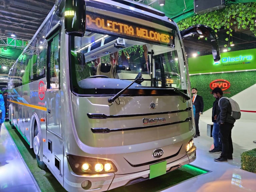 olectra byd c9 electric coach intercity