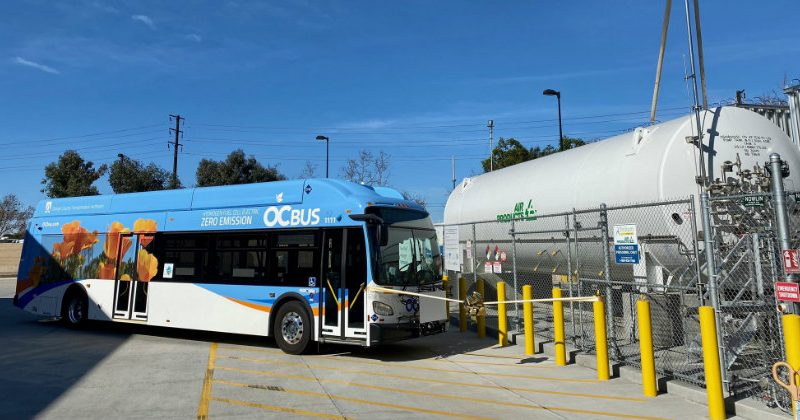 hydrogen bus fleet california