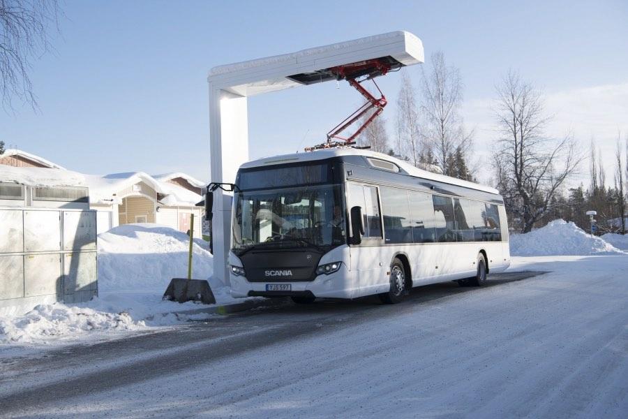 electric bus range cold