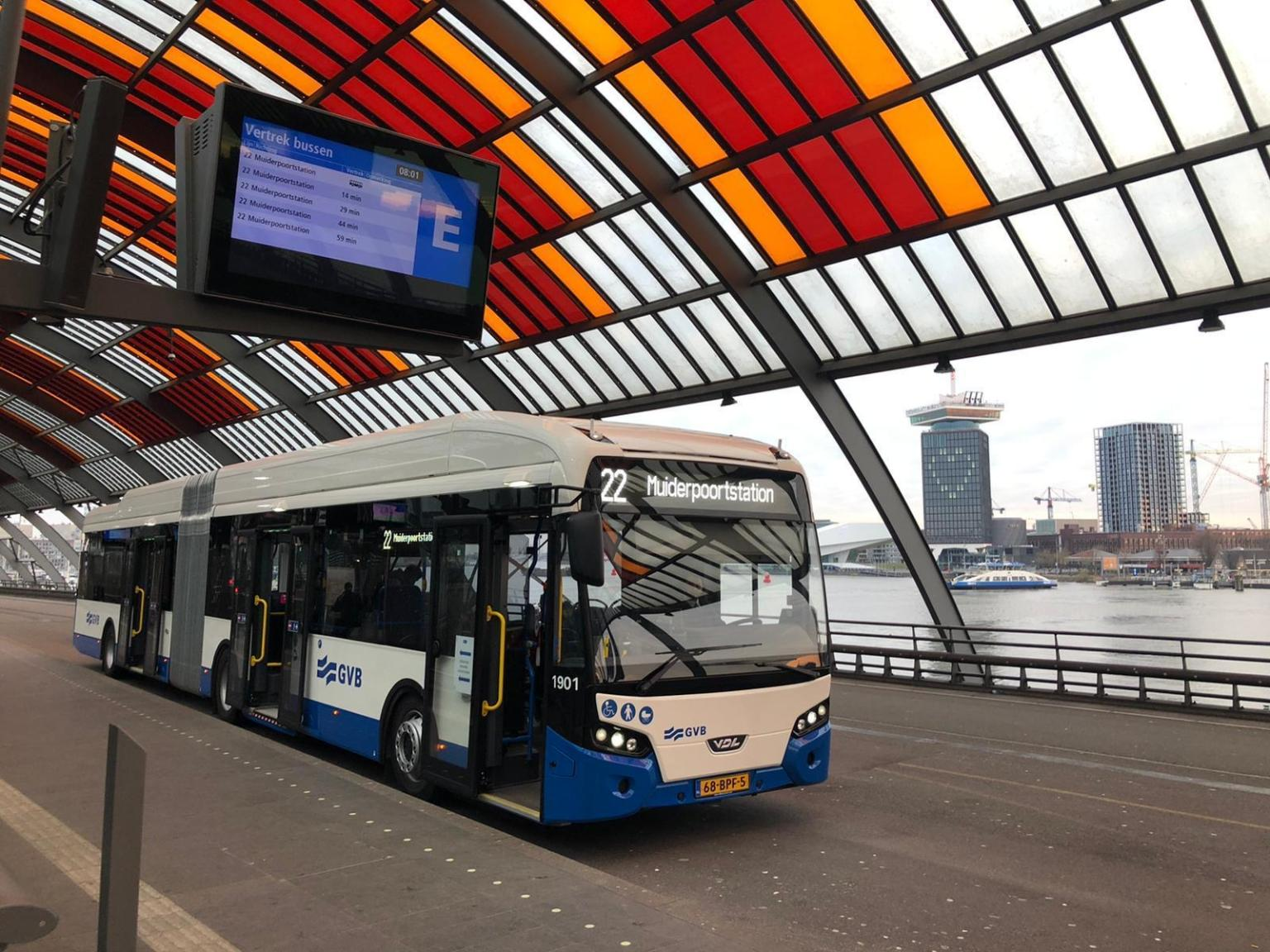 gvb amsterdam electric bus