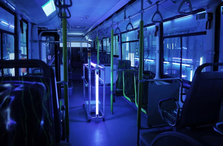 bus disinfection coronavirus uv lights