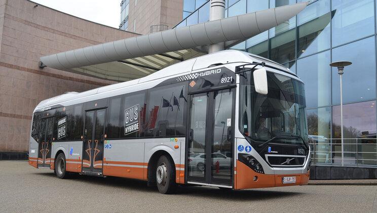 volvo hybrid buses stib-mivb brussels