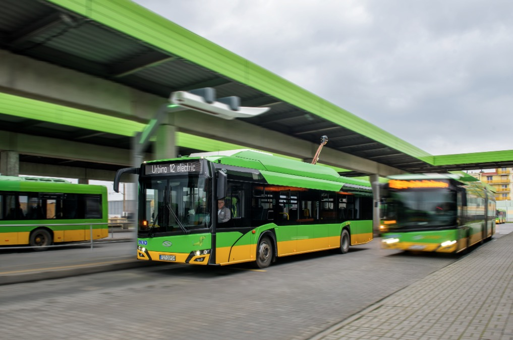 Poznań solaris electric bus