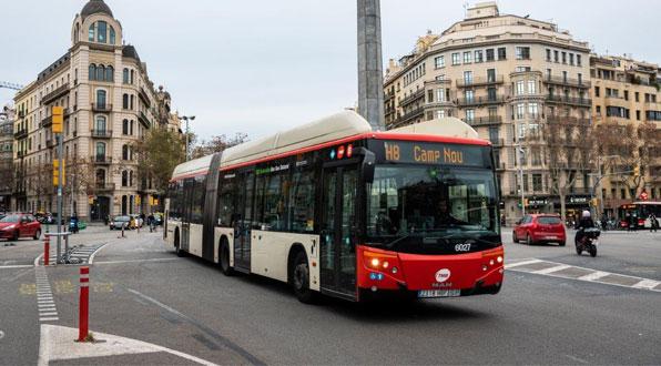 gas hybrid bus barcelona