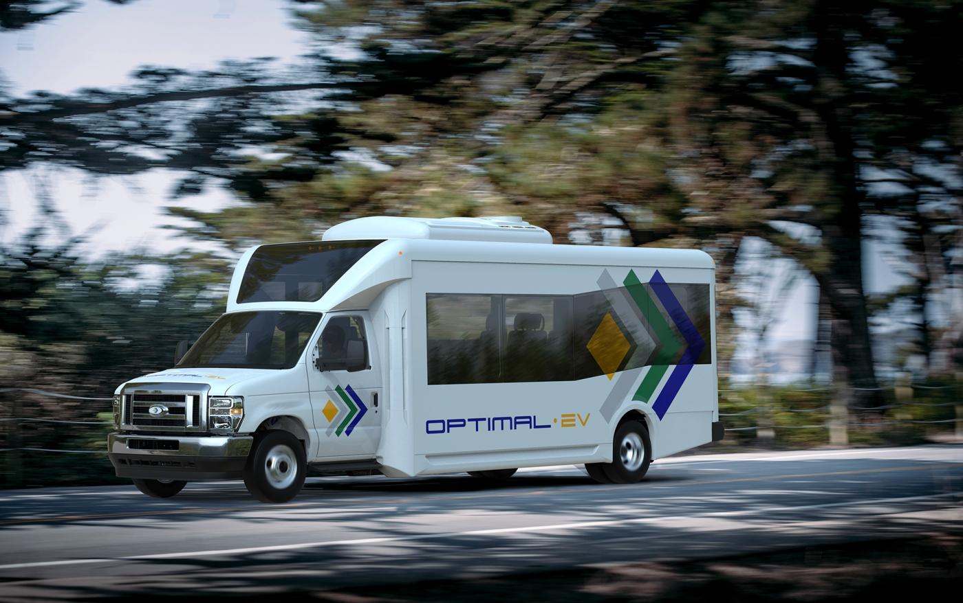 optimal ev electric shuttle bus