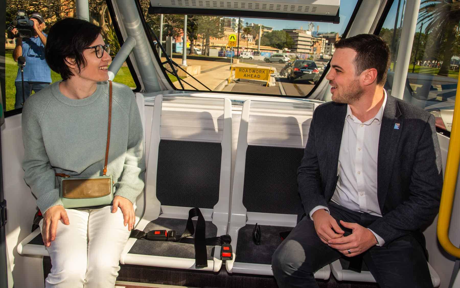 Keolis Downer driverless shuttle navya