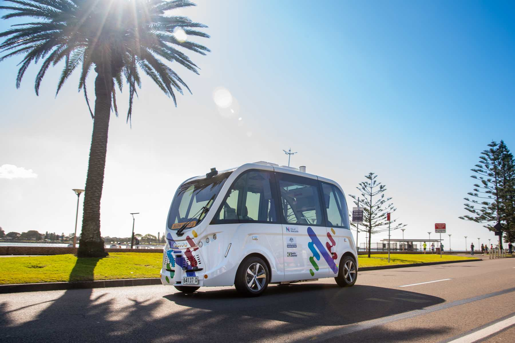 Keolis Downer driverless shuttle navya