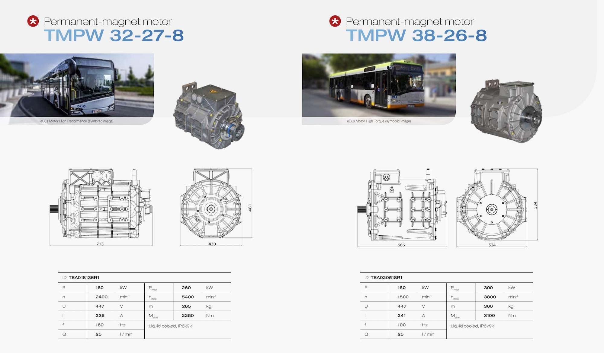 tsa high torque motor electric bus