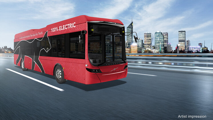 volvo electric buses perth bus
