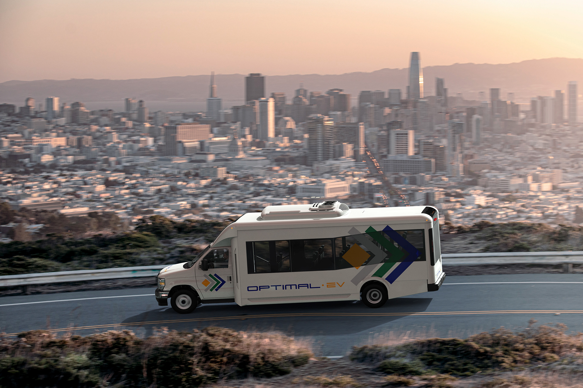 optimal ev electric shuttle bus
