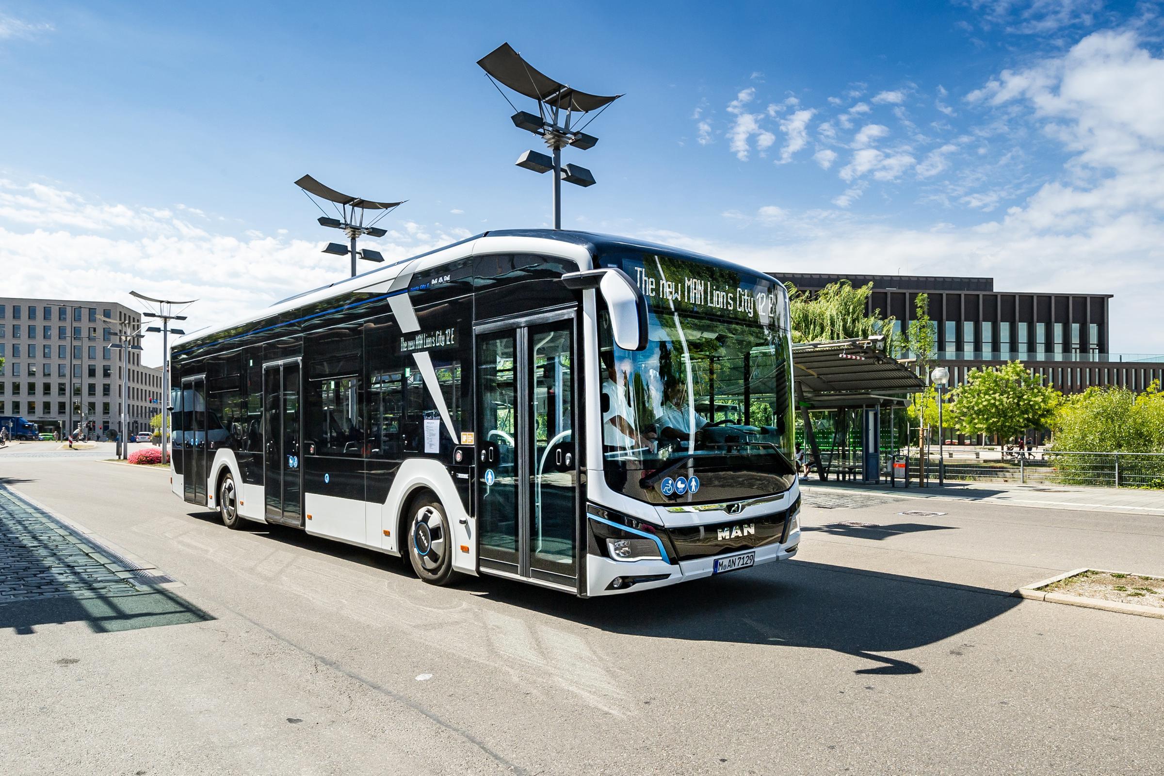 man electric bus sweden