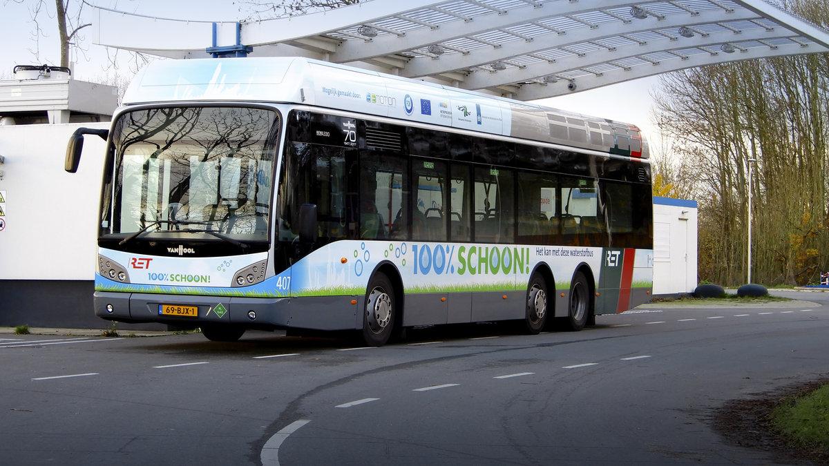 van hool hydrogen bus