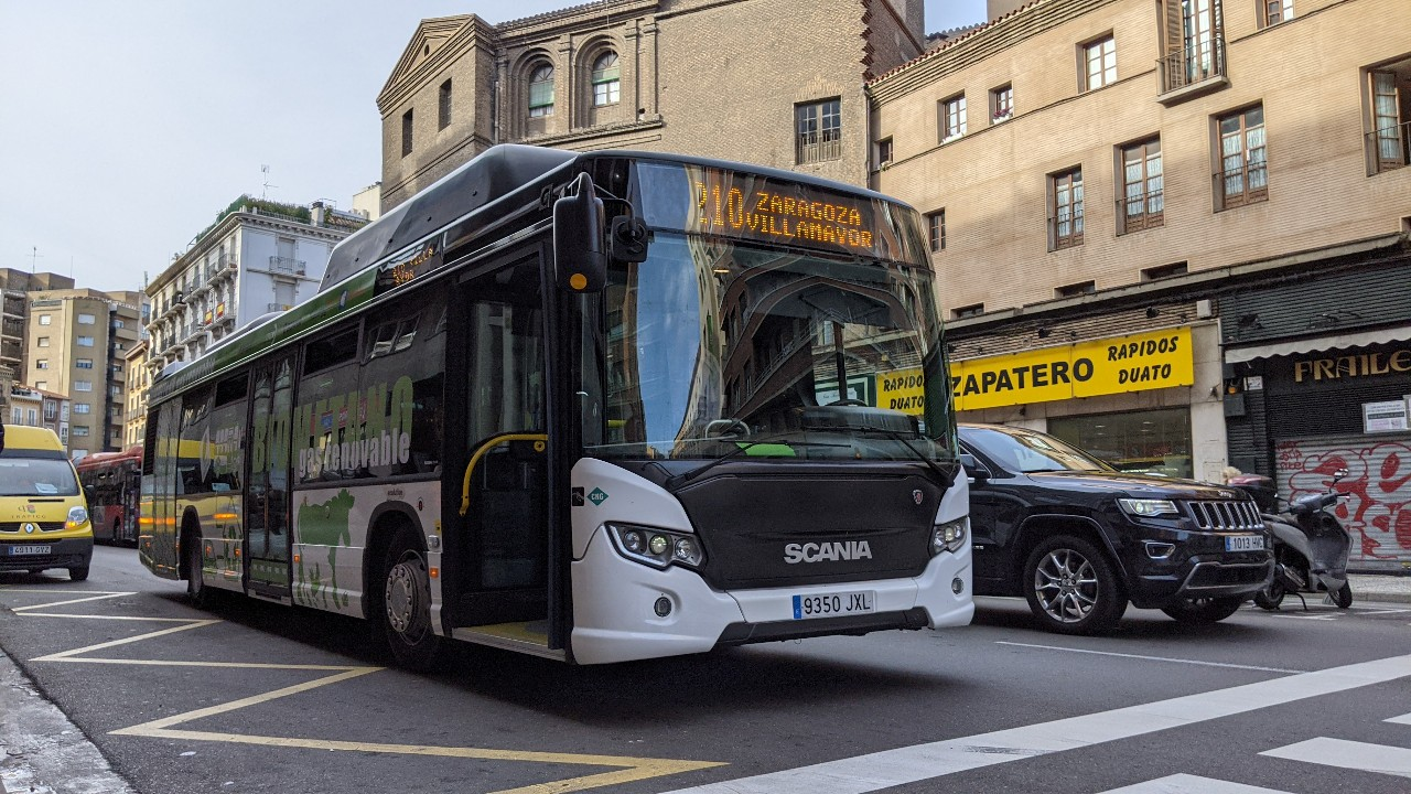 scania biomethane bus zaragoza