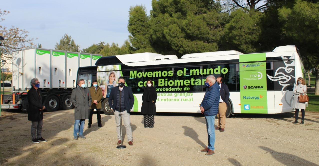 scania biomethane bus zaragoza
