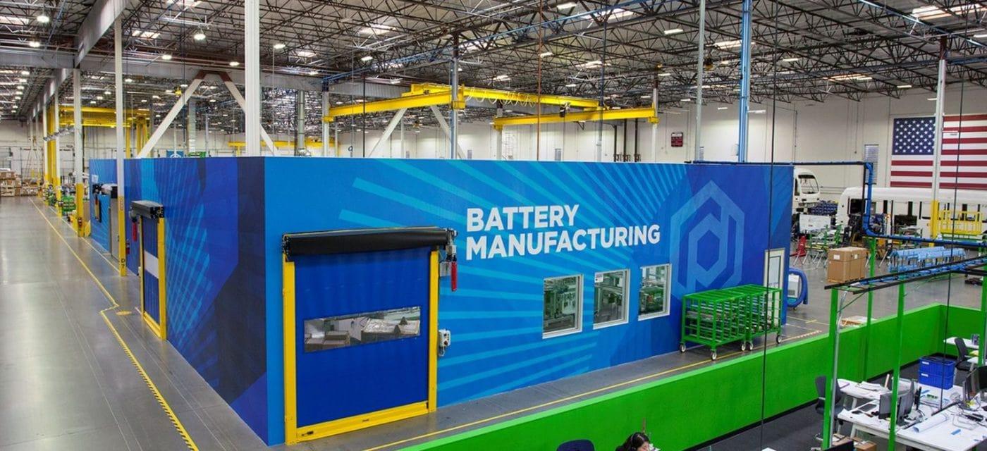 proterra batteries production