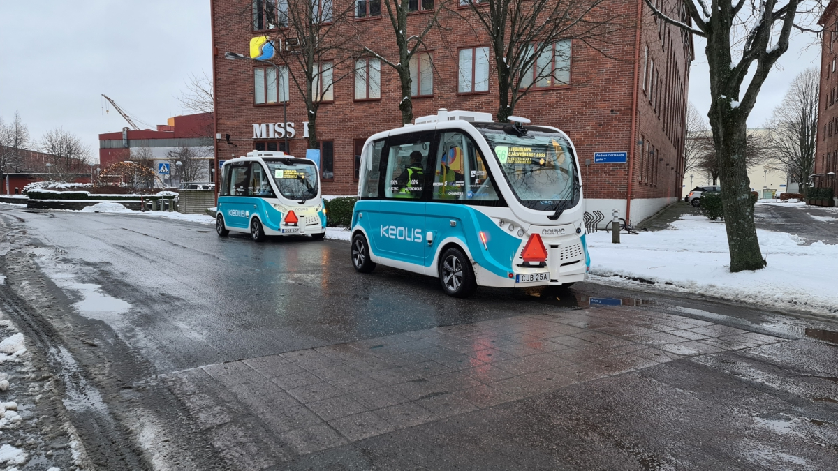 Autonomous shuttles in Gothenburg