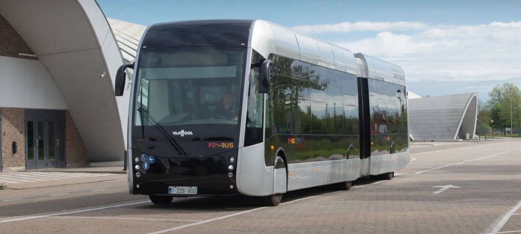 fuel cell bus articulated