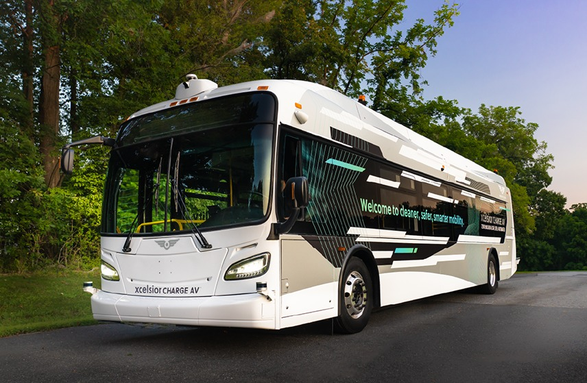 new flyer automated bus