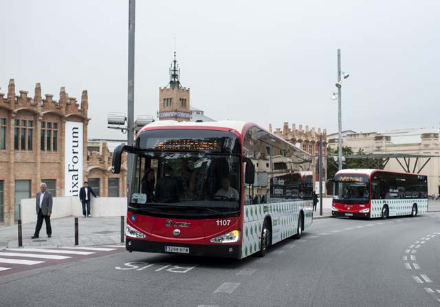 barcelona tender electric buses