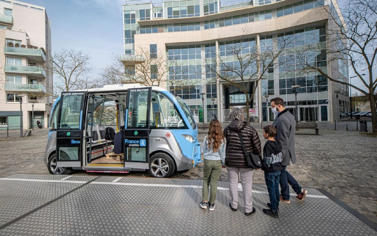 autonomous bus line in Île-de-France
