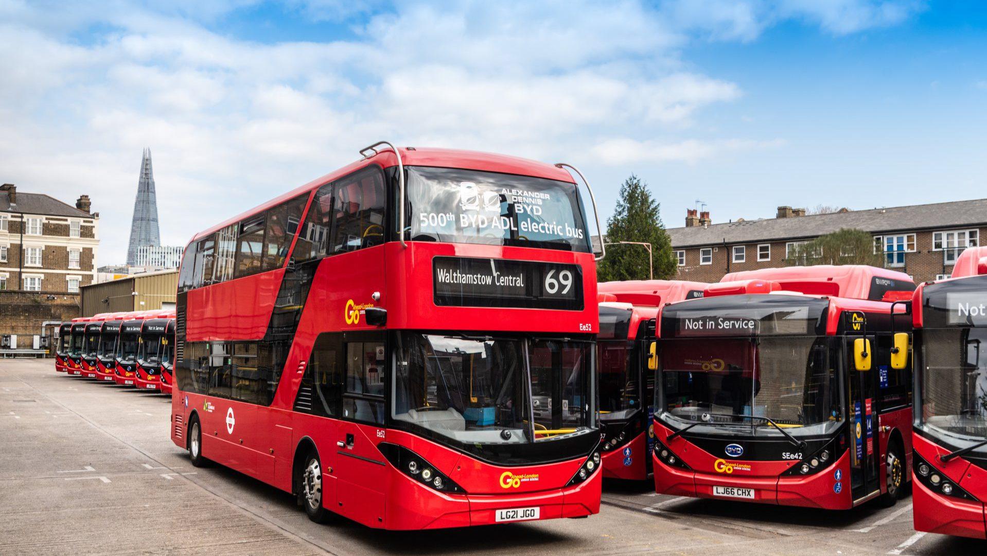 500 byd adl electric bus