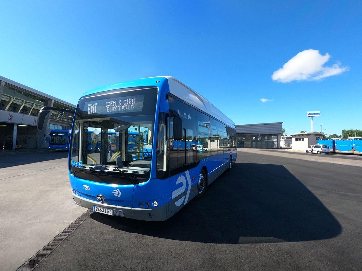 emt madrid byd electric bus