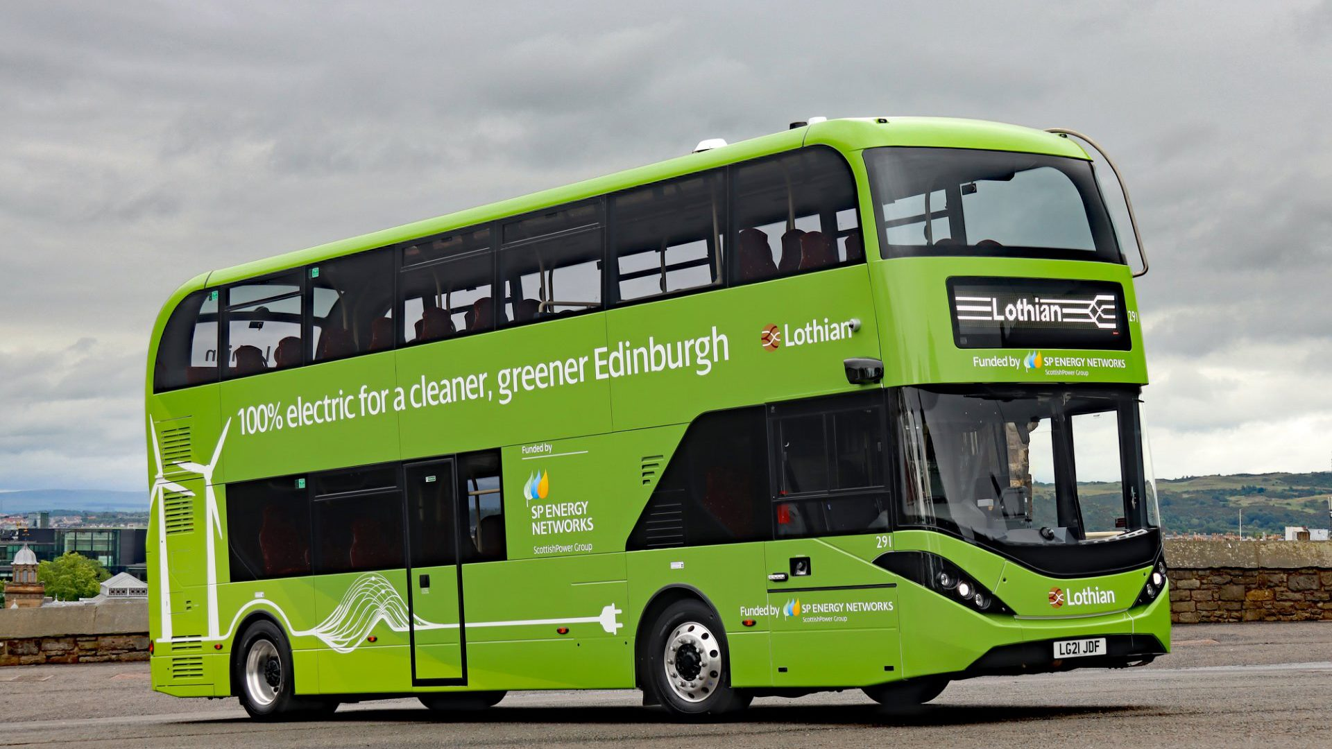 electric buses lothian edinburgh