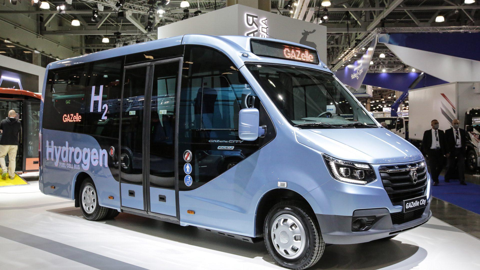 electric hydrogen bus gaz
