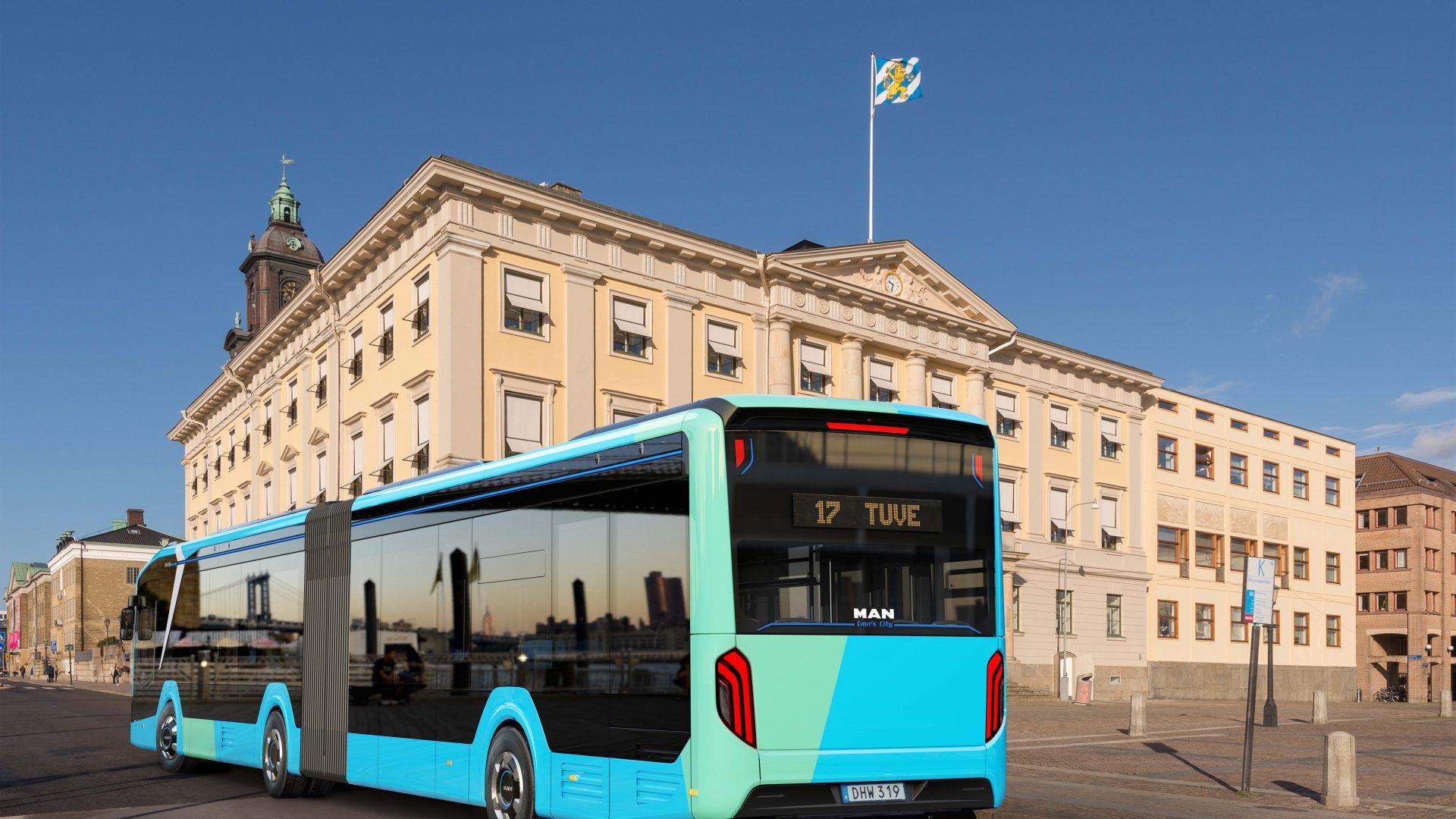 man lion's city electric bus sweden